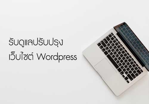 รับดูแลเว็บไซต์ wordpress แก้ไขปรับปรุงเว็บไซต์